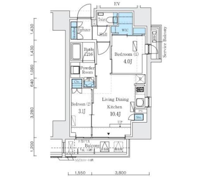 Apartment Rental Experts: Imprest Residence Ueno The Architect #1204 / Tokyo